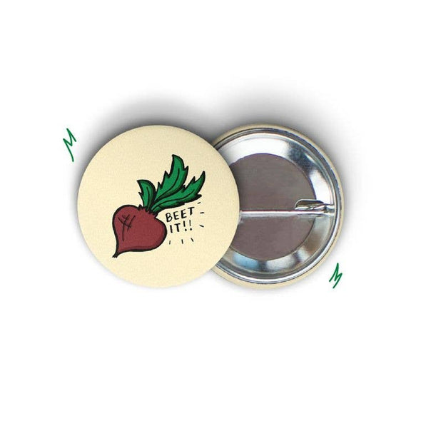 Beet It Round Pin-back Button