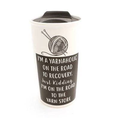 Yarnaholic Travel Eco Mug