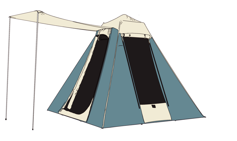 Pre-Pitched Tent