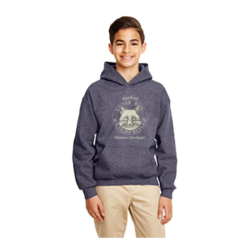 Youth Pullover Hooded Sweatshirt with Cream Logo