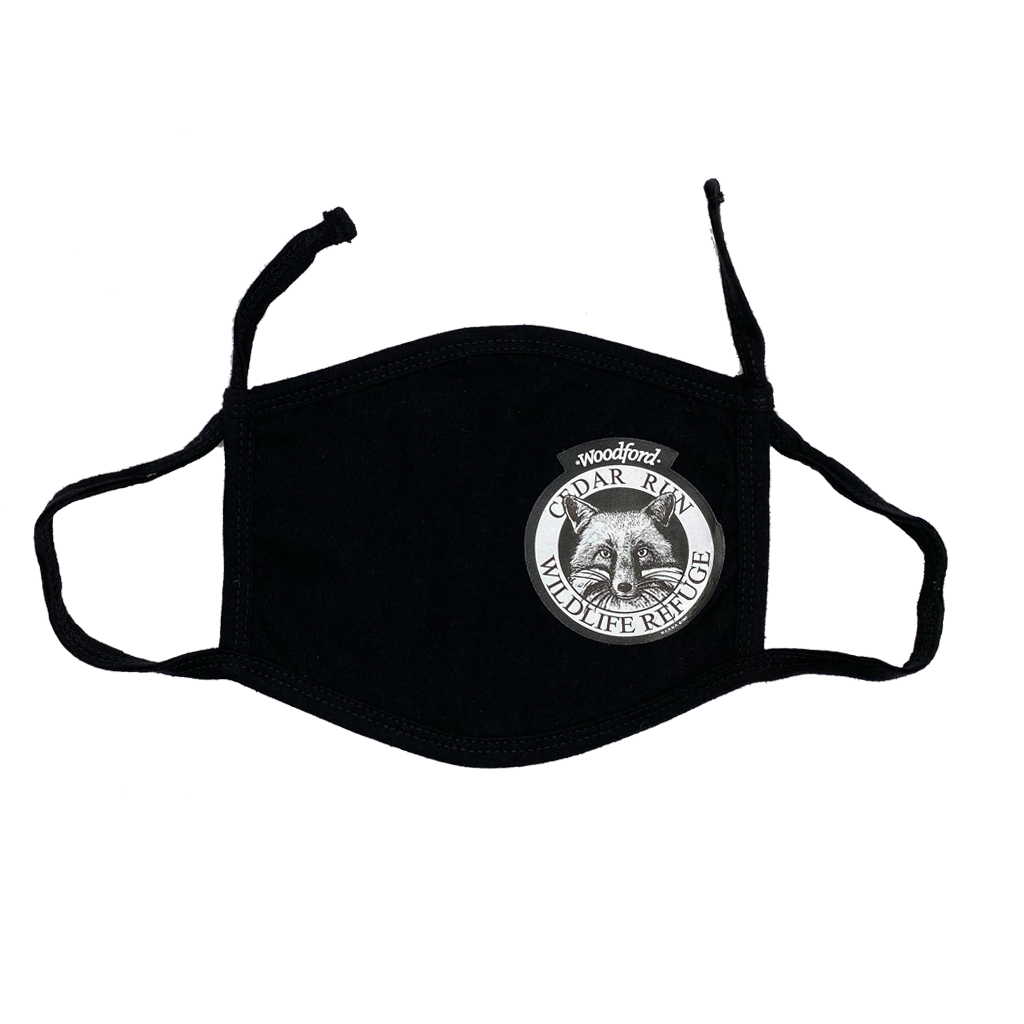 Adjustable Face Mask with White Logo