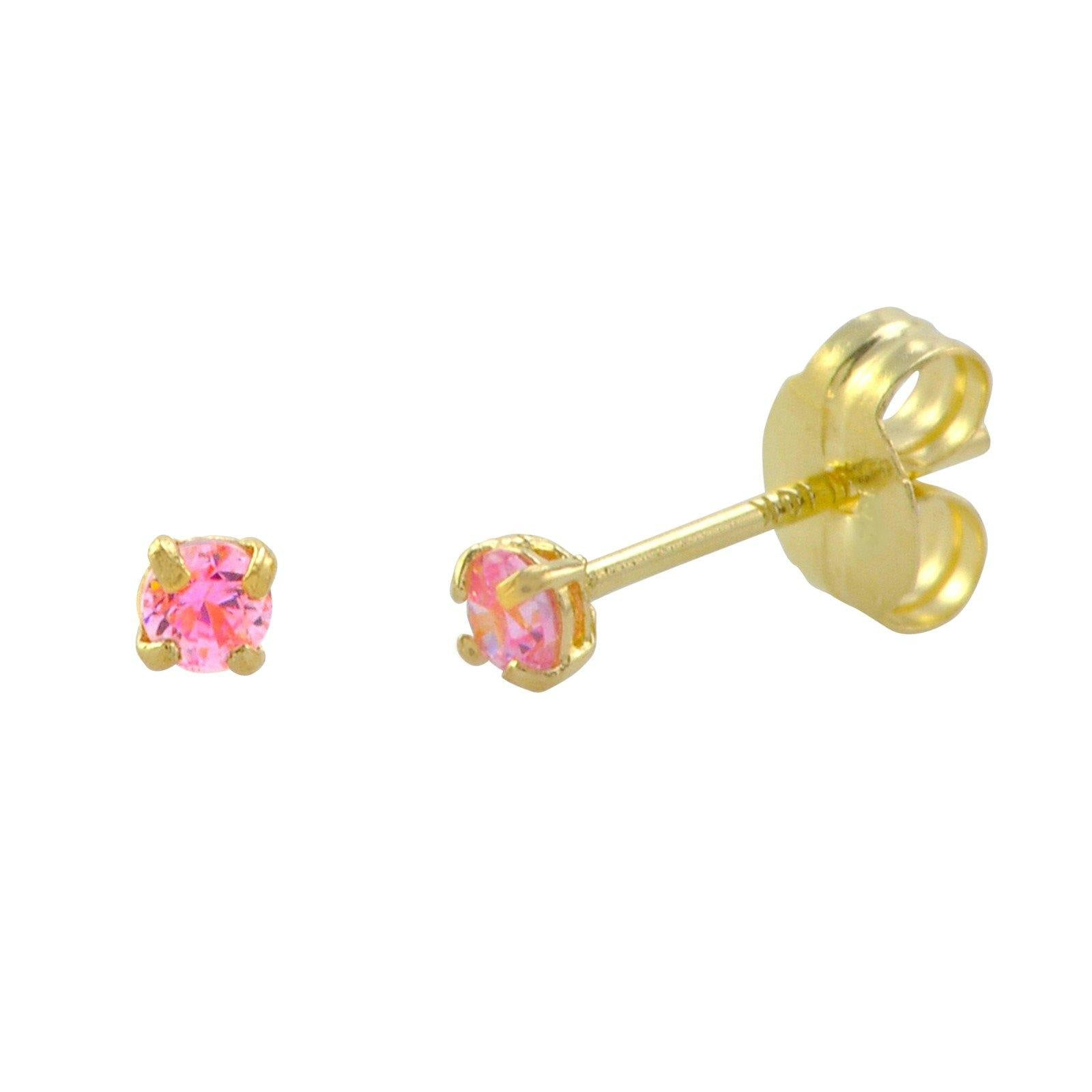 stud earrings flower engraved pin gold with diamonds products