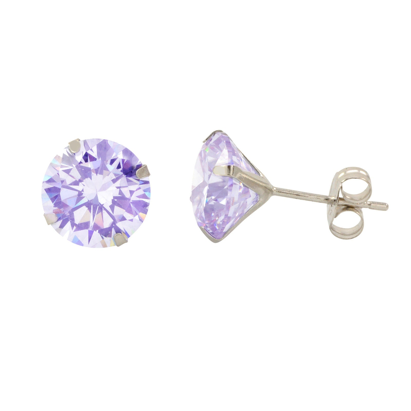 silver cubic icing us sterling zirconia earrings stud pack