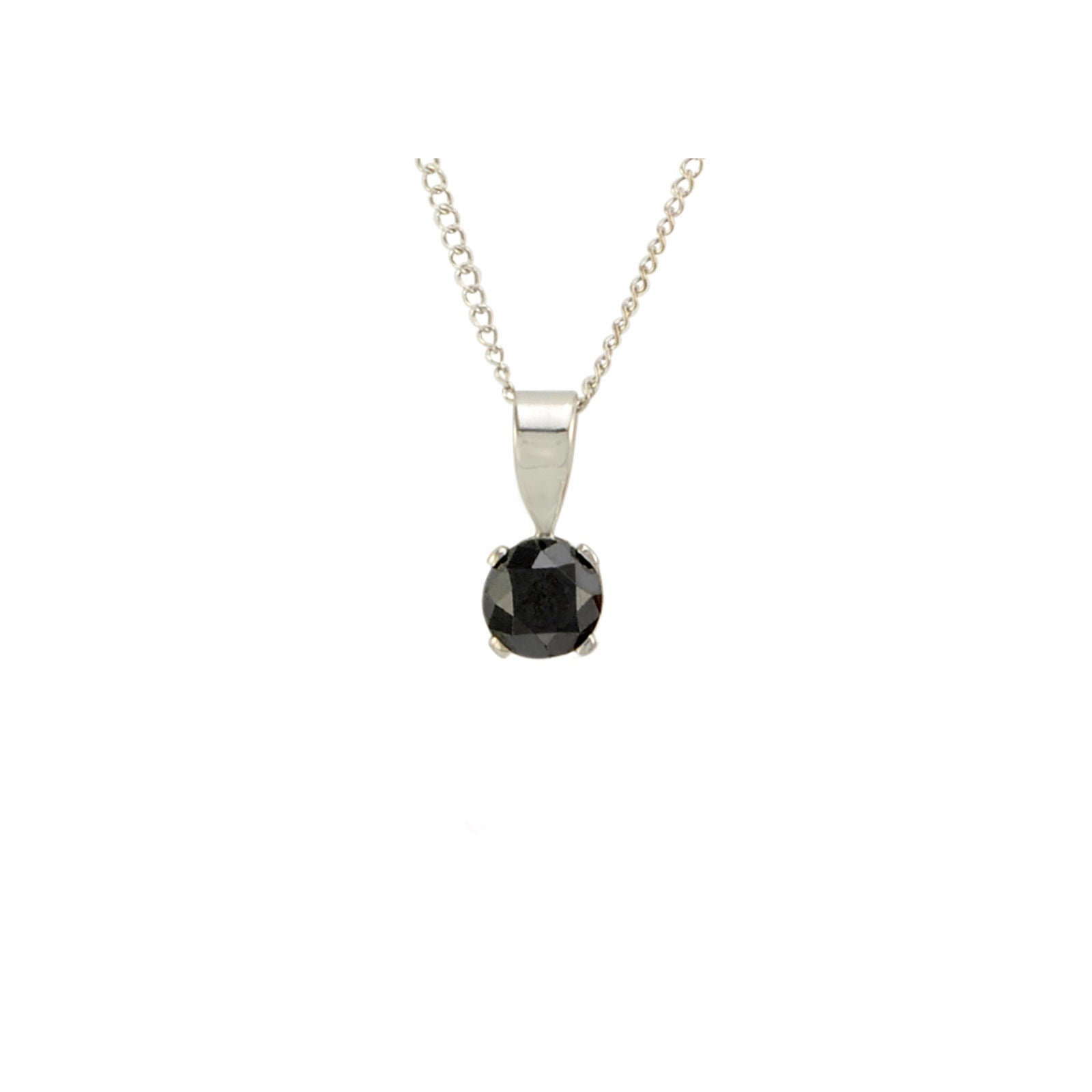 diamond t aaa tw off solitaire cut round ct pendant w black