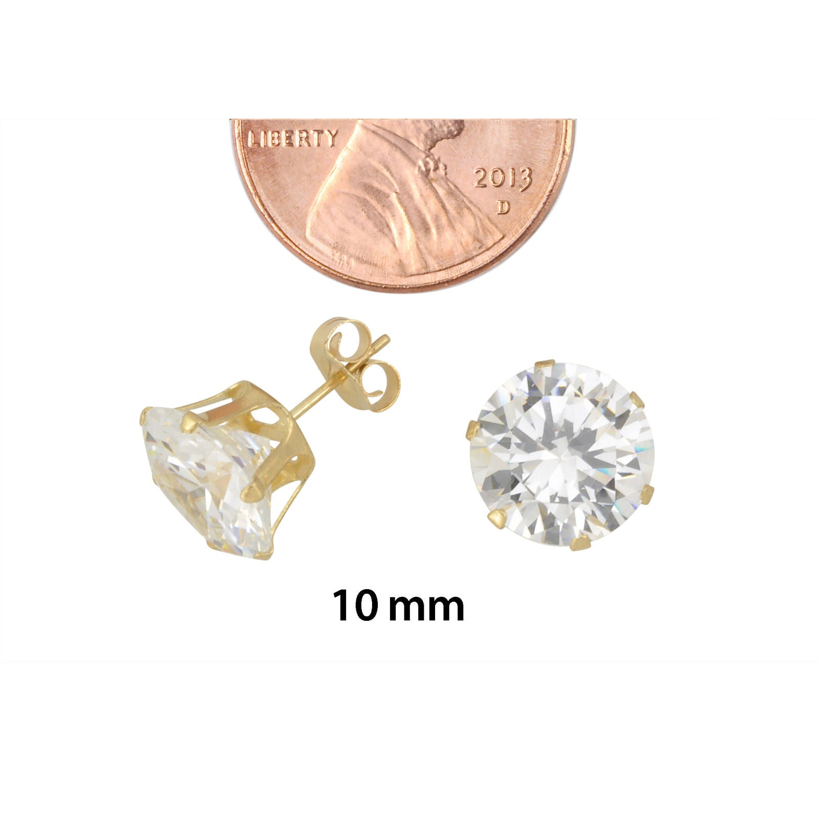 zirconia collections gold cubic stud products a earrings price only online