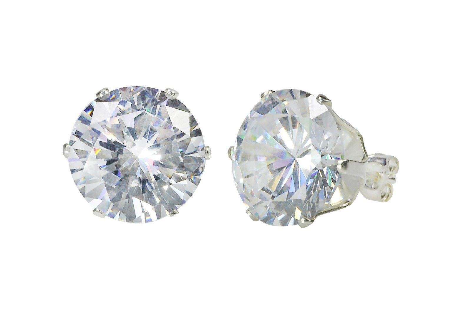gold stud beaverbrooks cubic white large zirconia p context earrings