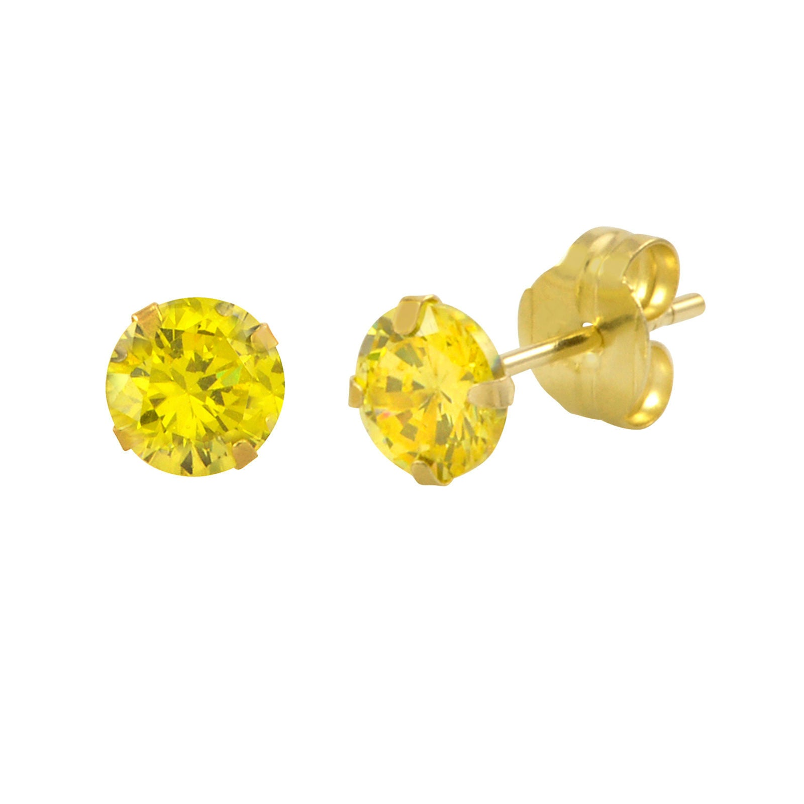 yellow cube earring giftsden square gucci citrine stud earrings g