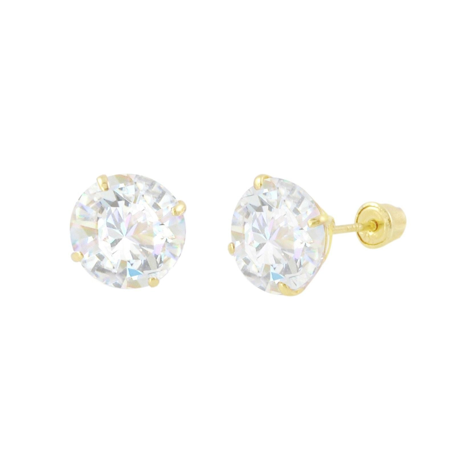 girl jewelry white com rose amazon stud yellow back ball s dp screw gold girls earrings