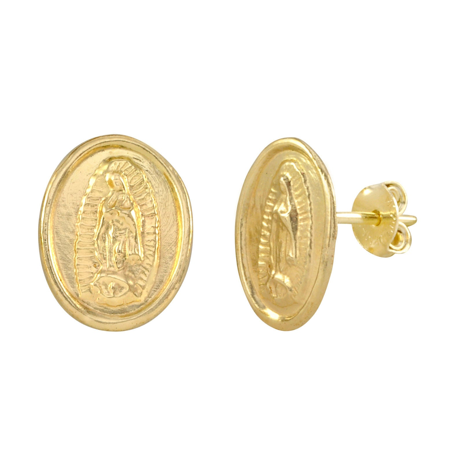 girls girl s yellow little gold with screw back earring stud earrings products in bow