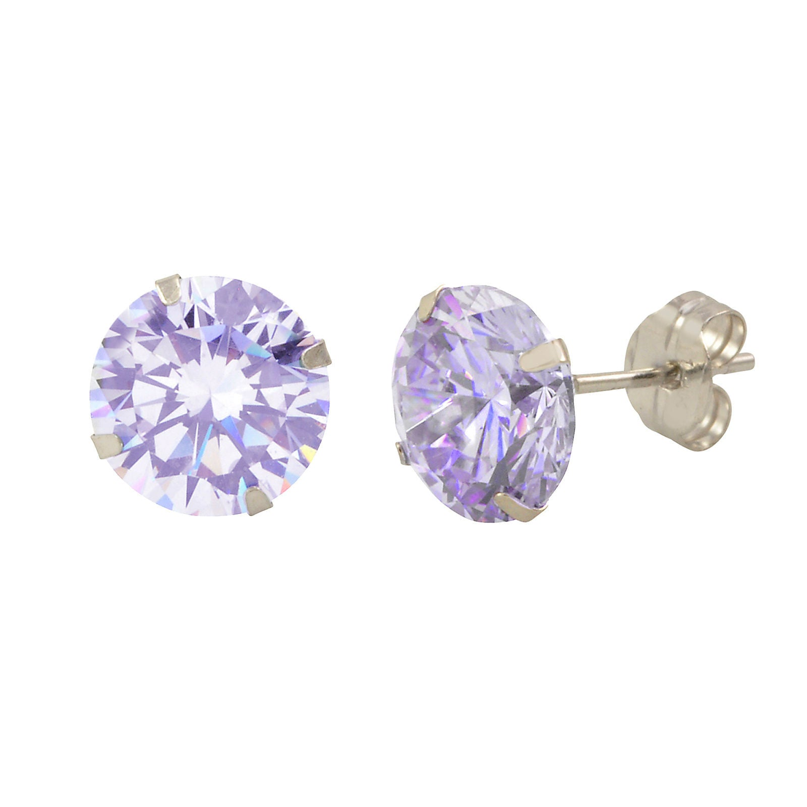 stud cubic in silver crislu zirconia earrings sterling square