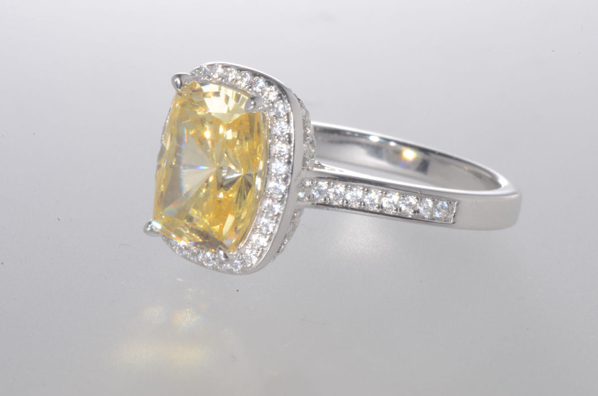 diamond canary bands band yellow engagement pinterest white pin rings future