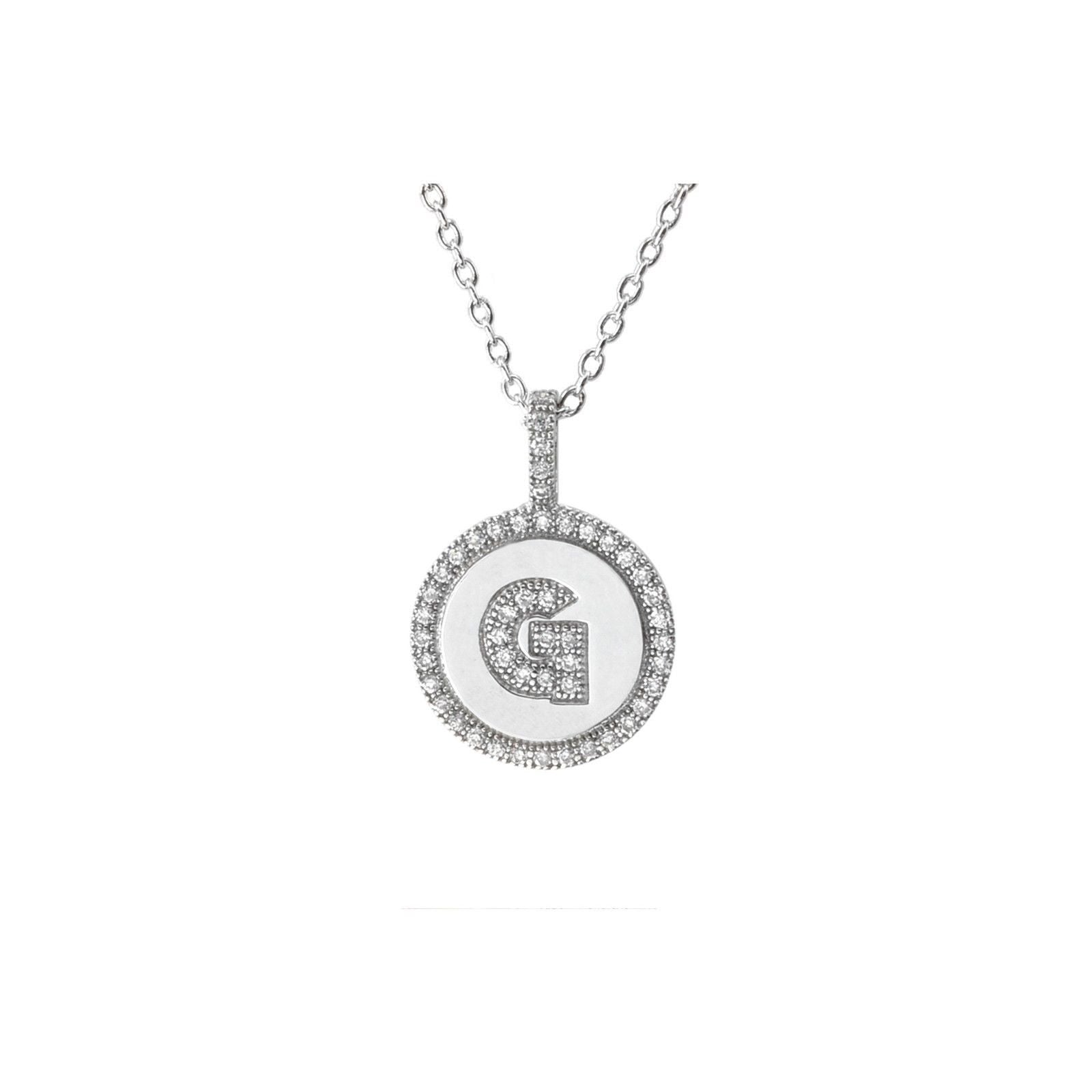 disc zirconia cubic image open necklace fiorelli necklaces silver
