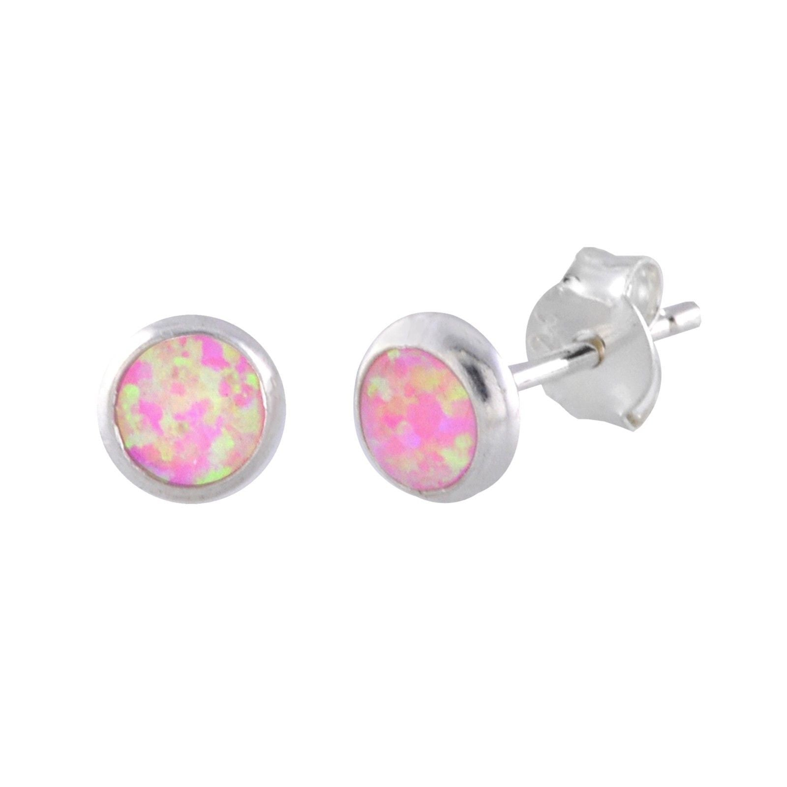 in with double gold rose halo tw opal earrings diamond