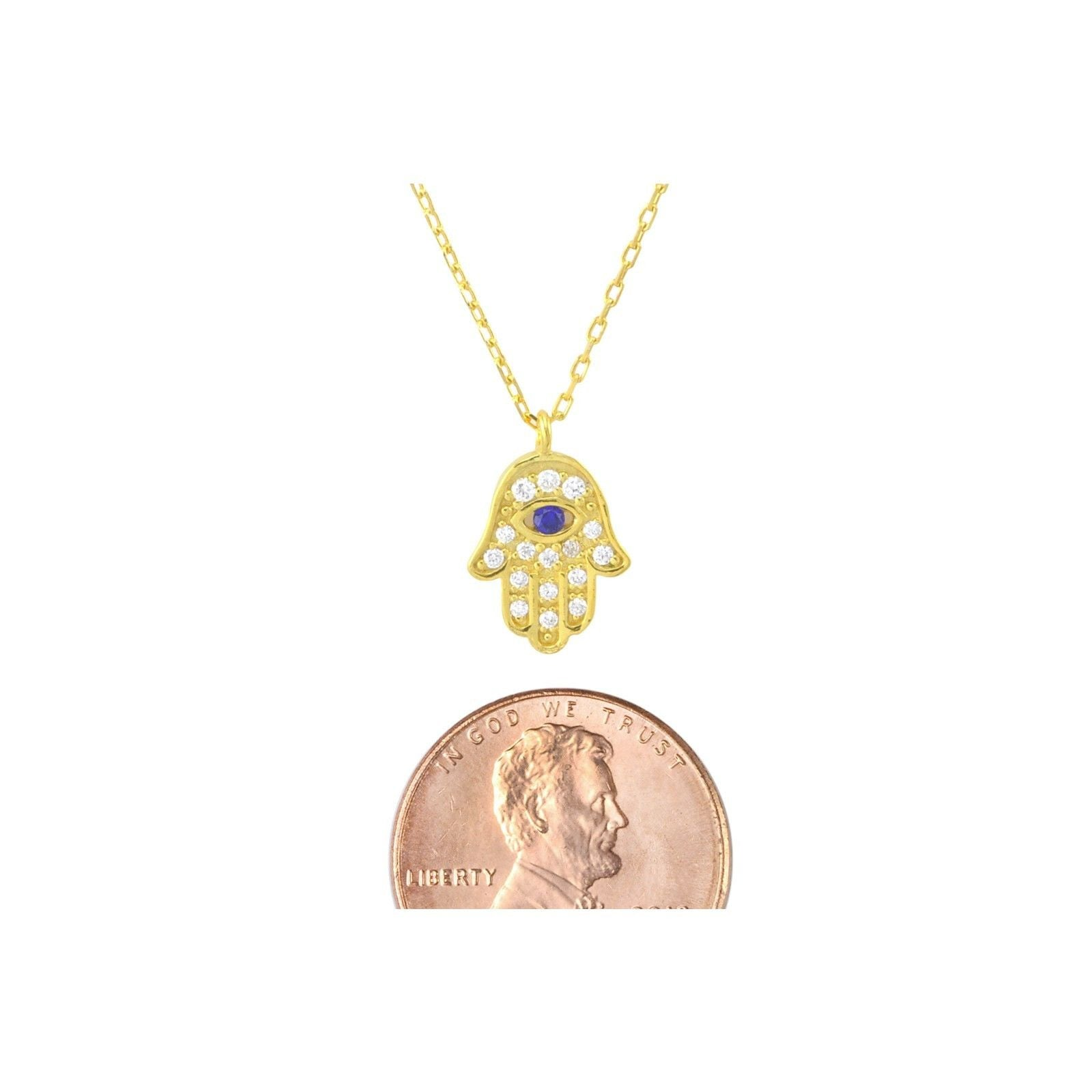 Hamsa necklace sterling silver yellow gold hand of god evil eye 17 hamsa necklace sterling silver yellow gold hand of god evil eye 17 chain aloadofball Choice Image