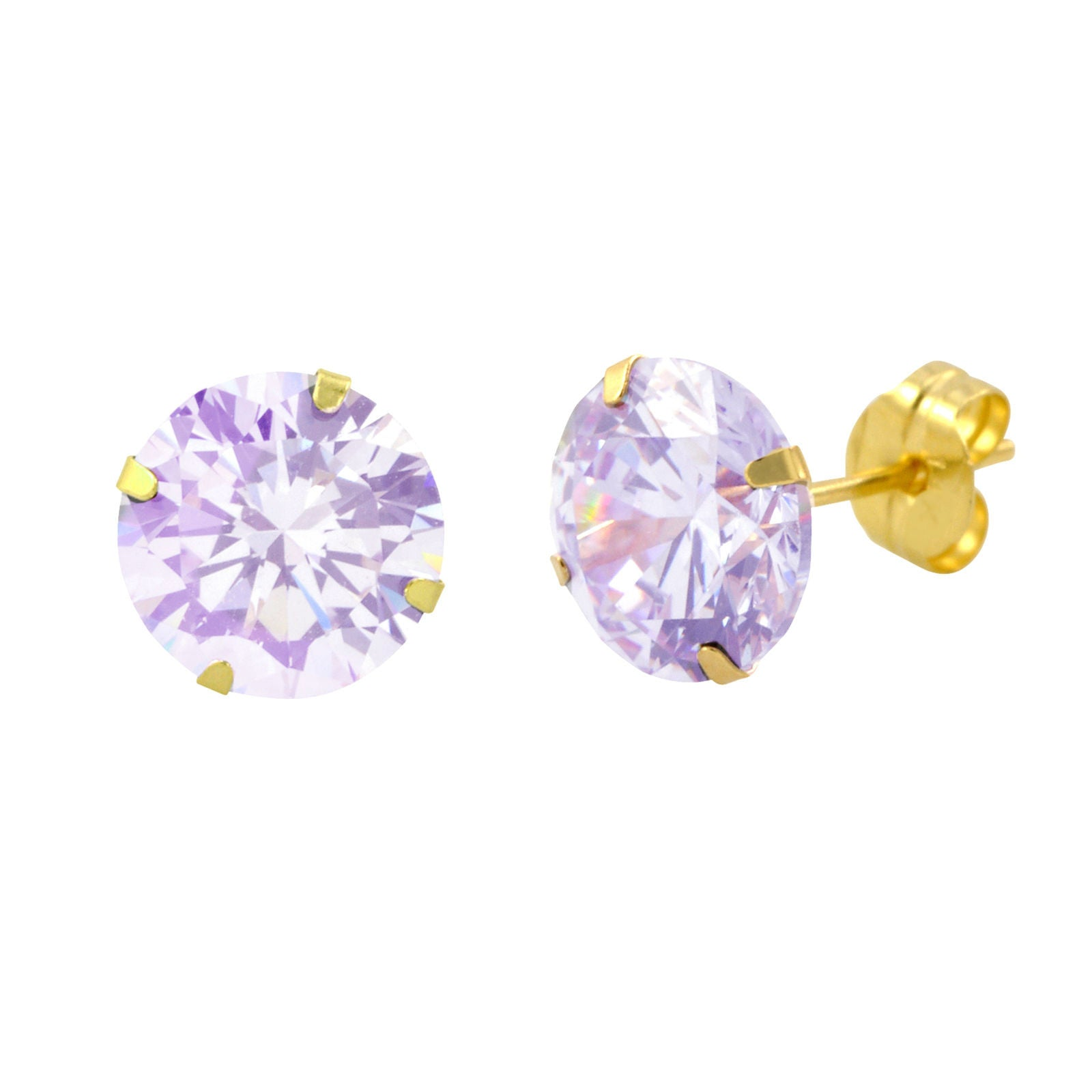 iridescent zirconia cubic icing earrings stud us