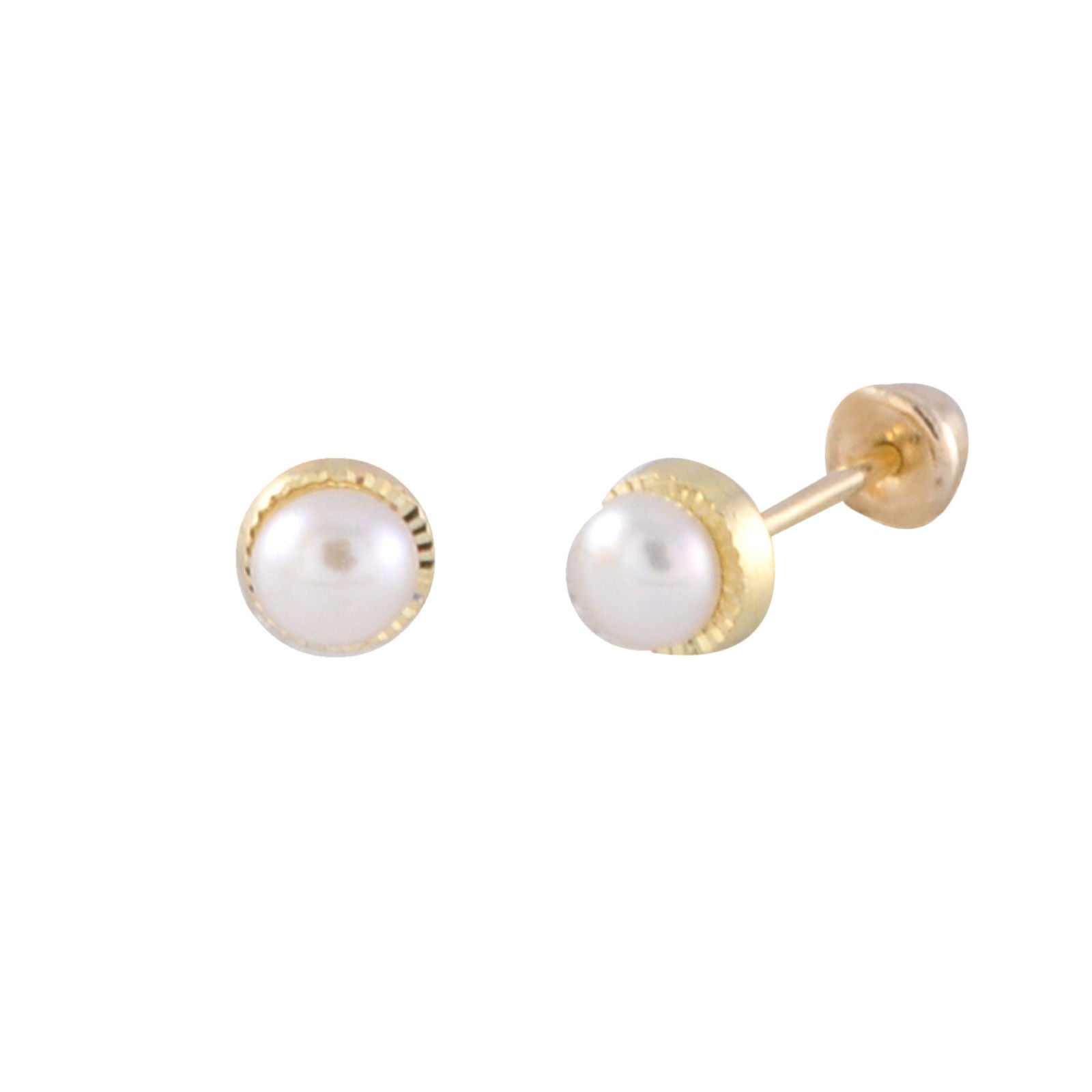 gallery lyst white pearl medium product earrings balenciaga normal stud in jewelry