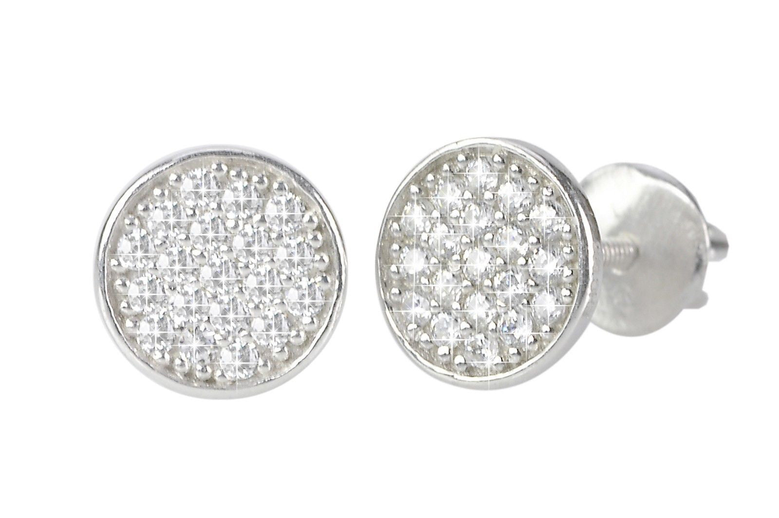 cfa4f3552 Micro Pave Stud Earrings Sterling Silver Screw Back CZ Cubic Zirconia |  Jewelryland.com