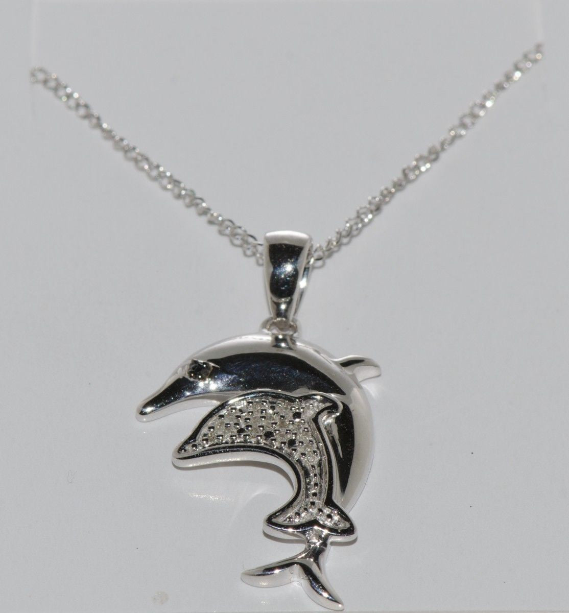 gold db jewelry designs necklace pendant accent white diamond dolphin yellow watches over product silver