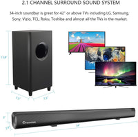 2020 Sound Bars with Subwoofer