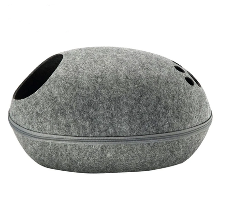 Premium felt cat cave , bed, Cat Bed - The perfect cat house - Felt cat house 2-1 bed and cat cave
