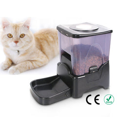 pet automatic feeder for cats and dogs/ dog automatic feeder  / timed cat feeder / timed dog feeder with LCD display and voice over