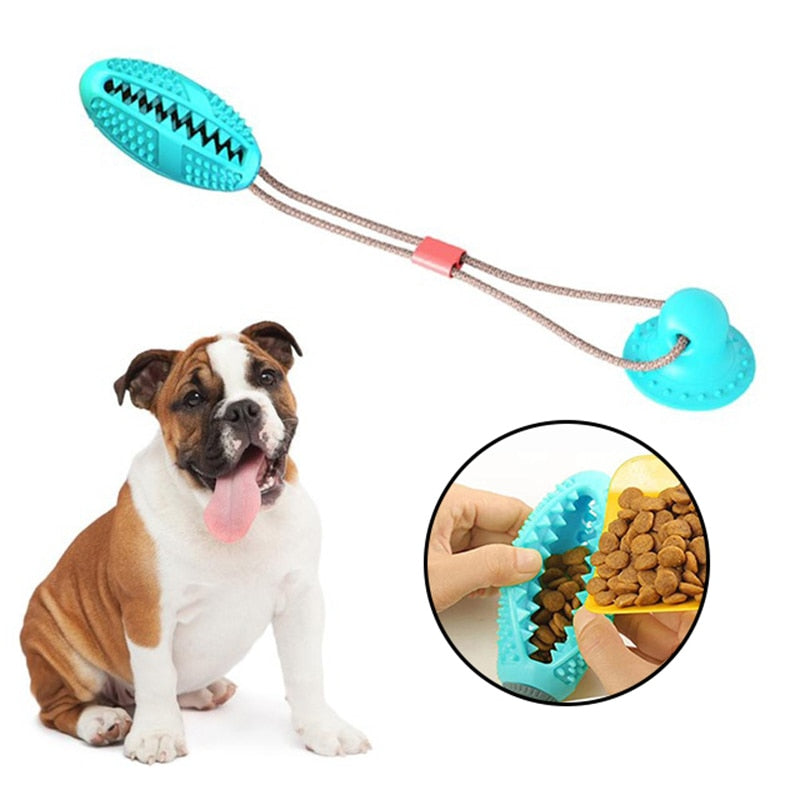 Dog Toy - Interactive Dog Toy - Multifunction Bite Toy - Treat Dog Toy and teeth cleaning toy - Exercise