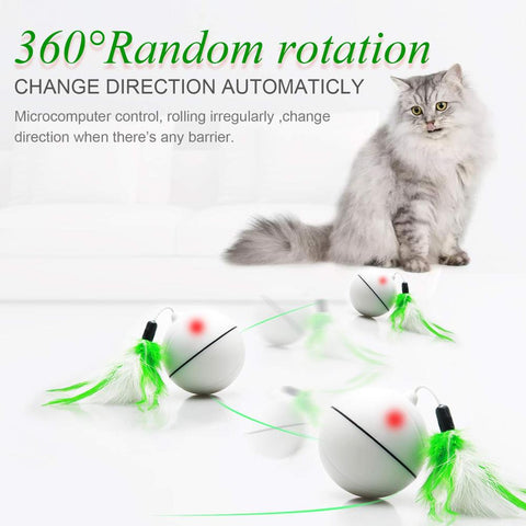 interactive cat toys - cat ball / kitten toys /  Explosive Cat Jumping Ball Electric Pet LED 360 Rotation / best cat toys /