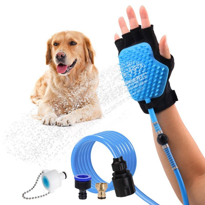 Dog Washer - combination shower, sprayer and dog grooming - handy pet gadget