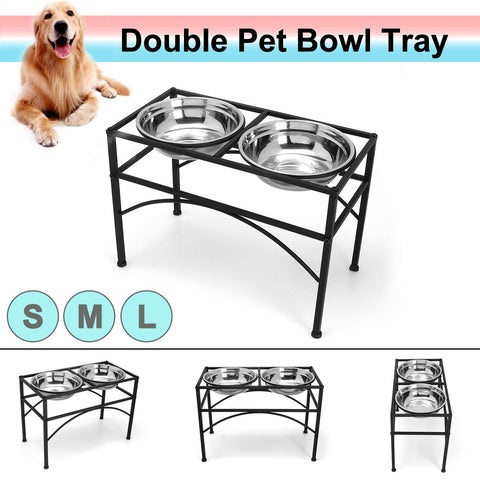 Dog bowl / Stainless Steel stand / elevated raised dog bowl for indoor and outdoor