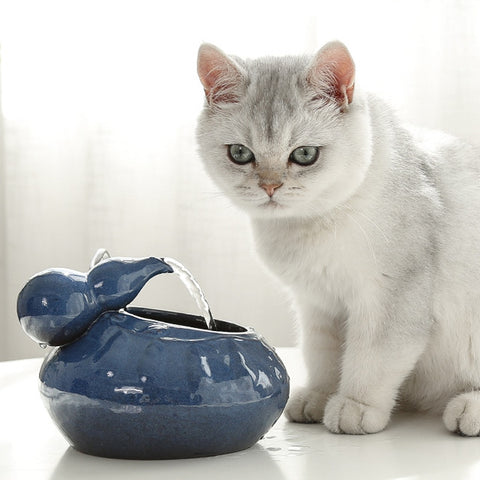 Cat water fountain / cat ceramic water fountain / cat water dispenser / the best cat drinking water fountain