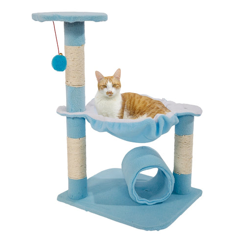 Cat tower - Playful cat house  / tree cat house - cat tree condo / cat tree condo with hammock