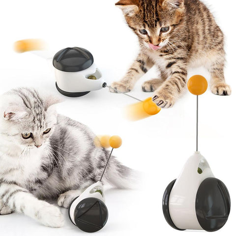 Cat toy - Interactive cat toy - Smart Cat Toy With Wheels Automatic Cat Toys Interactive- Rotating