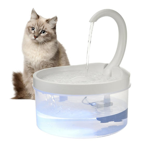 cat water fountain 2L with led  / cat drinking fountain / cat water bowl/ the best cat drinking fountain/cat water dispenser/