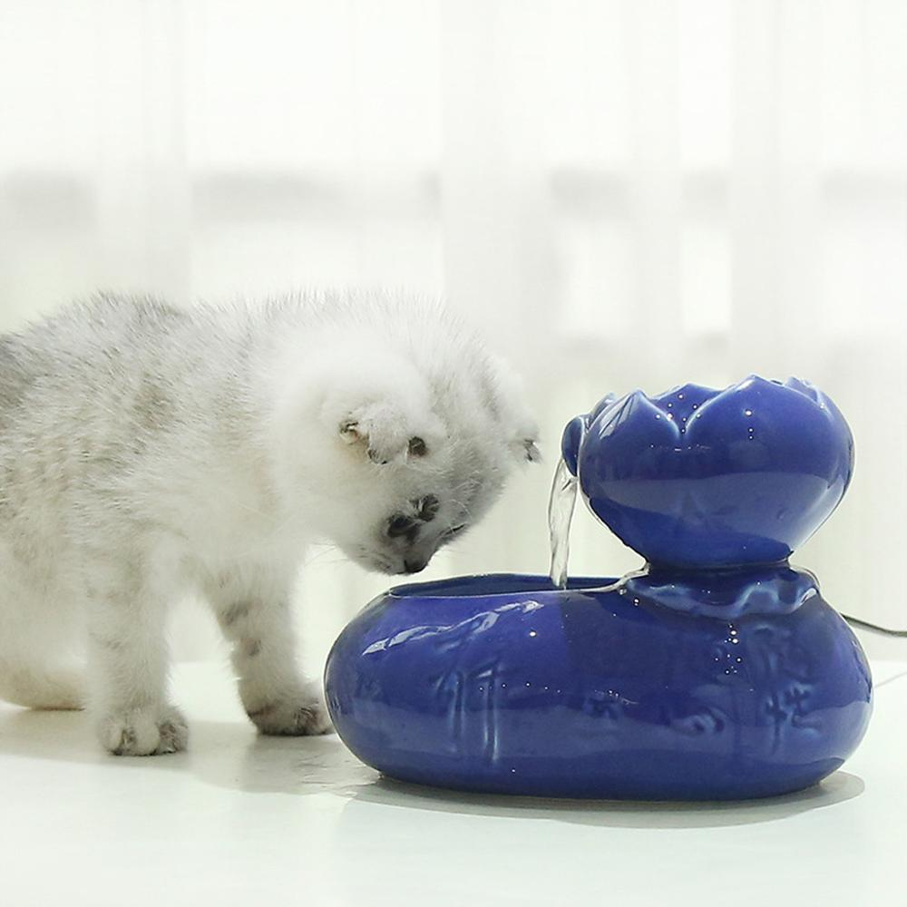 cat water fountain - Ceramic cat fountain - fashion cat bowls / the best cat water fountain