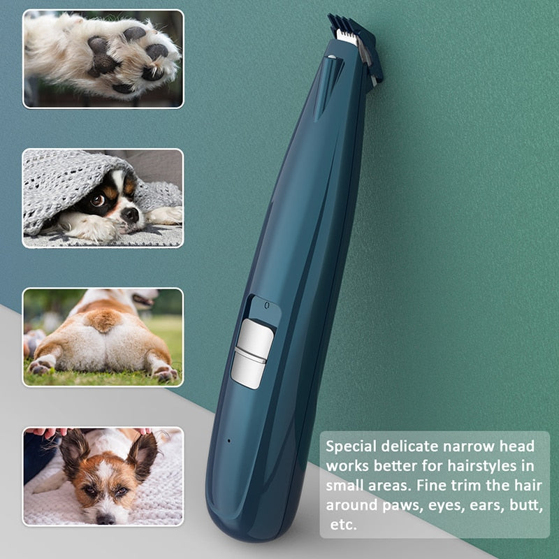 Pet hair clipper for cats and dogs / 2020 New Pet/dog Paw Hair Clipper Rechargeable Puppy with Scissor