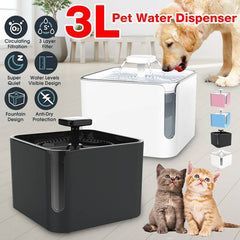 Cat Water Fountain  3L Automatic cat fountain / Filter USB Electric Water Dispenser  for cats / Circulating Pet Drinking Fountain