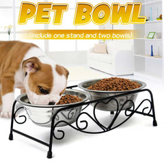 dog bowls  / stainless steel dog bowl /raised dog bowl / dog bowl stand fits for indoor and outdoor
