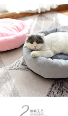 Dog Bed Mat Plush Soft Pet Bed Kennel Dog Round Cat Warm Sleeping Bag With Pillow Puppy Cushion Mat Portable Cat Supplies
