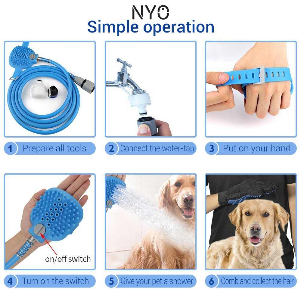 Dog Washer/ Dog Bathing / Aquapaw dog tool Sprayer Glove 360 Washing Hair / dog cleaner/ pet showering
