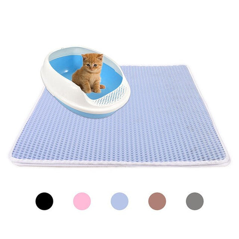 Cat Litter - cat litter mat Mat EVA Double Layer Waterproof Bottom Folding