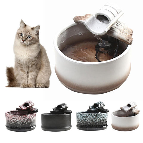 cat water fountain - Ceramic cat fountain/ Cat Water Dispenser/ cat water dispenser / the best ceramic water fountain