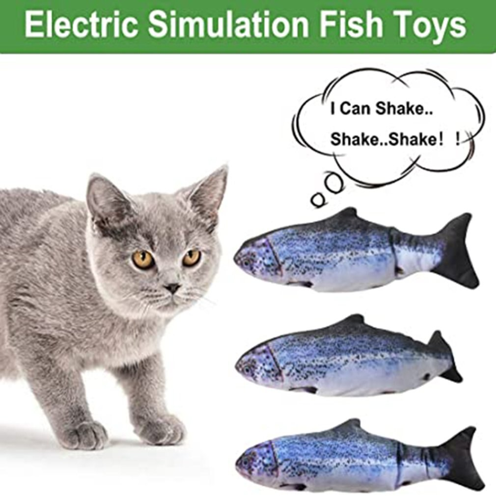 Cat Toy - flopping fish cat toy-  Fish Cats Toy cat moving fish -  floppy fish for cats contains cat nip