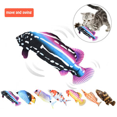 Interactive Cat Toy - flopping fish cat toy/ Dancing Catnip/ Kicker Toys Fish Cat Toy USB Charging Simulation