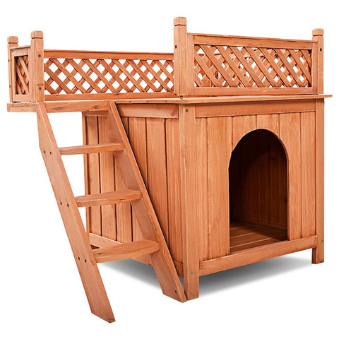 Outdoor dog house  for small/medium dogs. Dog kennel house weather Resistance made of wood/ the best dog house