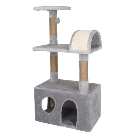 Cat Tree Toy Condo / Cat Climbing Tree With Hammock Furniture Scratching Solid Wood Posts for Cats