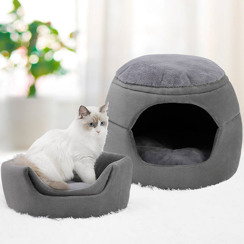 Natural Felt Cat Bed Semi-enclosed Closed Cat / Cat cave for cats