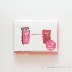 Poking Pocky Note Cards