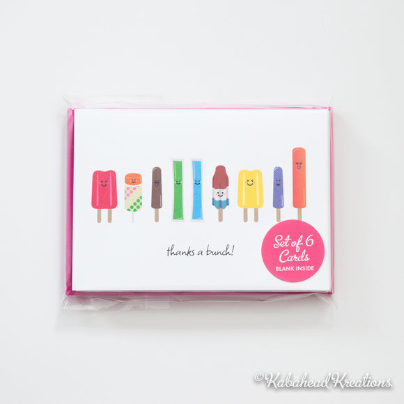 Popsicle Note Cards
