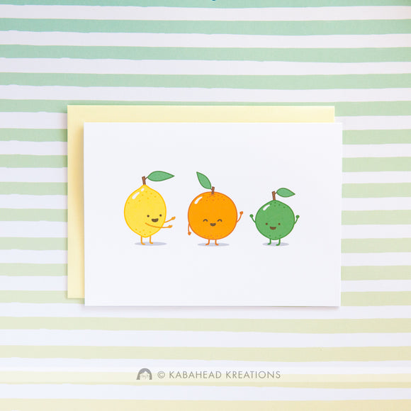 Sweet Citrus Birthday Card
