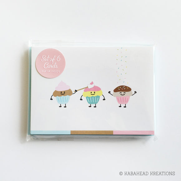 Cupcake Trio Note Cards